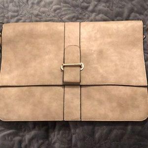 Express tan Cross body or clutch purse